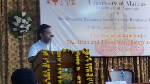 International Conference on Acharya Ramanuja Darsanam held at University of Madras, Sri U.Ve.Ayee Narasimhan Swami delivering on Acharya Ramanuja Darshana Samanvaya