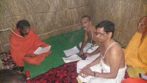Sri.U.Ve.Ayee Narasimhan Swami with H.H.Paramapujya Lakshmi Prapanna Jeer Swami @ Buxer, Bihar