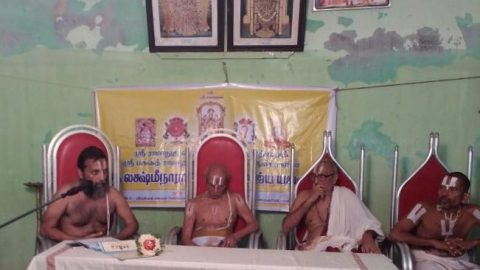 Upanyasam on Ubhaya Vedantha Aikyam at Kancheepuram with Sri.U.Ve.P.B.Gadi Srinivasahariar Swami, Sri.U.Ve.Araiyar Sriramsharma Swami and Sri.U.Ve.Thirupulani Soundarrajan Swami