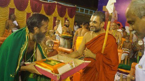 Felicitation by HH Paramapujya Sri Sri Tridandi Chinna Jeer Swami at Srirangam